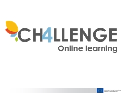 CH4LLENGE has just started its series of online learning co