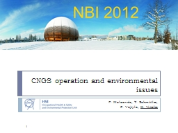 CNGS operation and environmental issues
