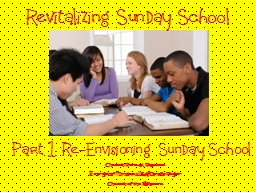 Revitalizing Sunday School