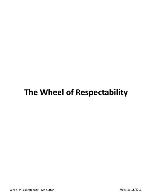 Wheel of Respectability
