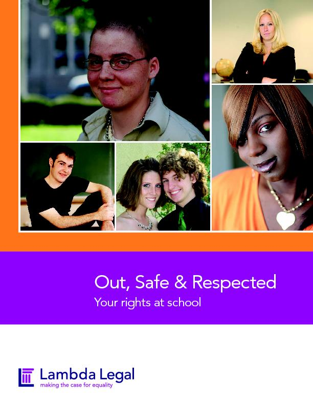 Out, Safe & RespectedYour rights at school