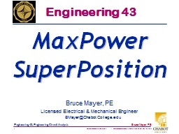 Bruce Mayer, PE PowerPoint PPT Presentation
