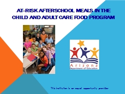 At-Risk Afterschool Meals in the