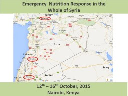 1 Emergency  Nutrition Response in