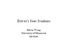 Driver's Seat Students