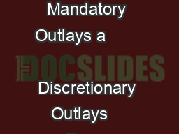 Mandatory Outlays a             Discretionary Outlays    Gross