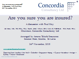 ® Are you sure you are insured? PowerPoint PPT Presentation