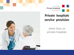 Private hospitals service PowerPoint PPT Presentation