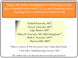 Surgically Induced Astigmatism following coaxial