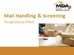 Mail Handling & Screening
