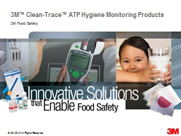 3M™ Clean-Trace™ ATP Hygiene Monitoring Products PowerPoint PPT Presentation
