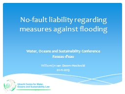 No-fault liability regarding measures against flooding
