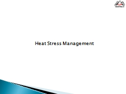 Heat Stress Management