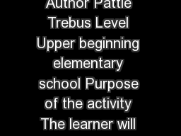 Title  Adjectives describing our classmate Author Pattie Trebus Level Upper beginning elementary school Purpose of the activity The learner will understand what an adjective is and how to use adjecti