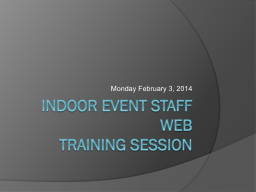 Indoor Event Staff Web PowerPoint PPT Presentation