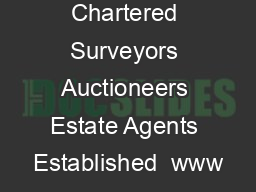 Chartered Surveyors Auctioneers Estate Agents Established  www