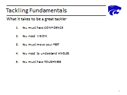 Tackling Fundamentals
