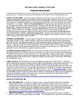 OAKLAND COUNTY FRIEND OF THE COURT PARENTING TIME GUIDELINES This document refle PDF document - DocSlides