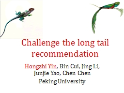 Challenge the long tail recommendation