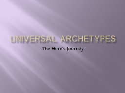 Universal Archetypes PowerPoint PPT Presentation