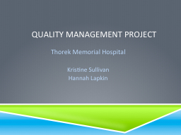 Quality management Project PowerPoint PPT Presentation