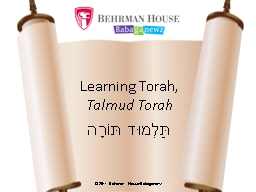Learning Torah, PowerPoint PPT Presentation