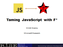 Taming JavaScript with F*