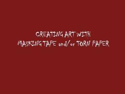 CREATING ART WITH