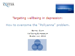 Targeting wellbeing in depression: