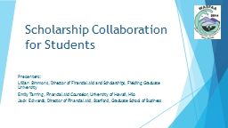 Scholarship Collaboration for Students