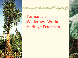 Tasmanian Wilderness World