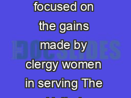 IMZ  Q XXXX  years X ZXOO  Previous By the Numbers articles in The Flyer have focused on the gains made by clergy women in serving The United Methodist Church as local church pastors district superin