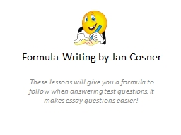 Formula Writing by Jan