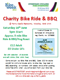 Charity Bike Ride & BBQ PowerPoint PPT Presentation