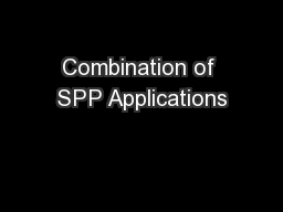 Combination of SPP Applications