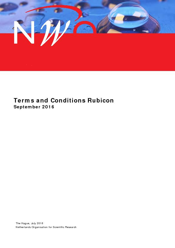 Terms and Conditions RubiconSeptember2016The Hague, JulyNetherlands Or