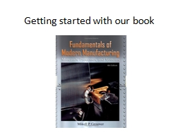 Getting started with our book