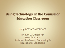 Using Technology in the Counselor Education