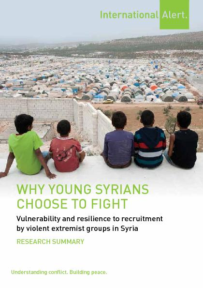 Vulnerability and resilience to recruitment  by violent extremist groups in Syria PDF document - DocSlides