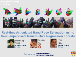 Real-time Articulated Hand Pose Estimation using Semi-super