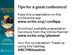 Tips for a great conference!
