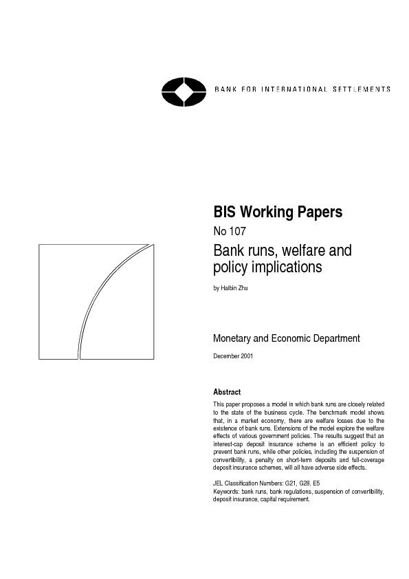 policy implications by Haibin Zhu Monetary and Economic Department Abs