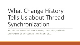 What Change History Tells Us about Thread Synchronization