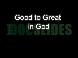 Good to Great in God's Eyes(Part 7Make Great SacrificesPractices