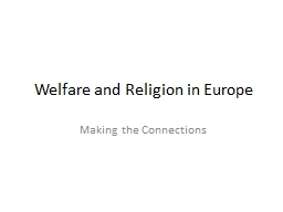 Welfare and Religion in Europe PowerPoint PPT Presentation