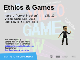 Ethics & Games PowerPoint PPT Presentation