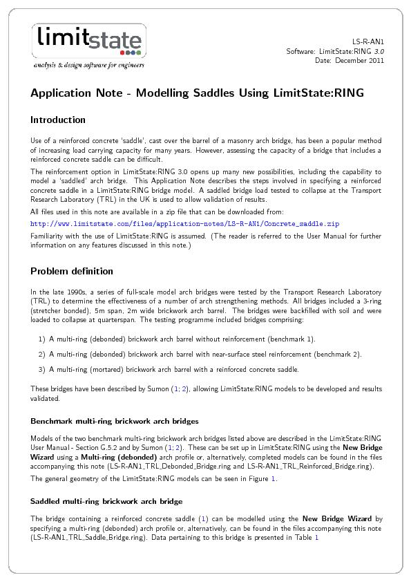 LS-R-AN1Software:LimitState:RING3.0Date:December2011ApplicationNote-Mo PowerPoint PPT Presentation