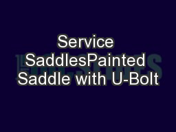 Service SaddlesPainted Saddle with U-Bolt
