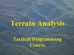 Terrain Analysis
