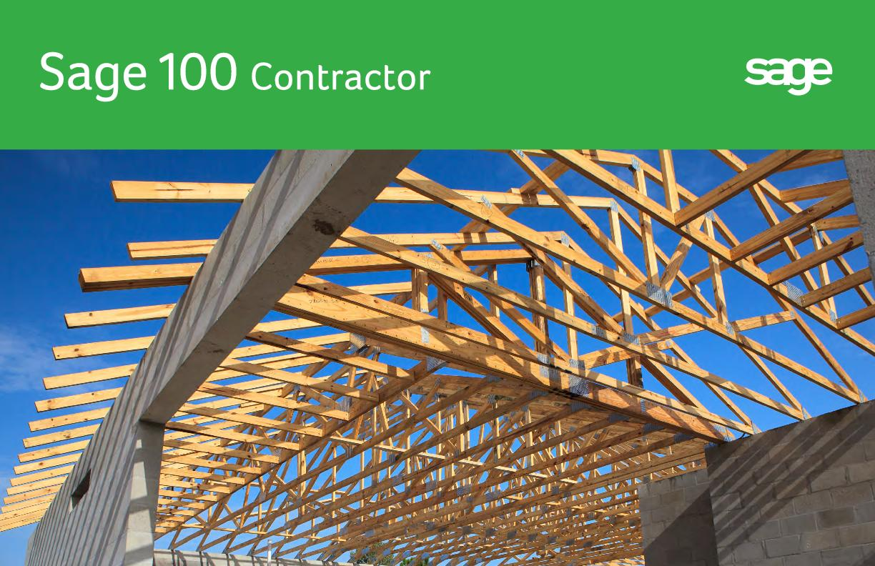 Sage 100 Contractor is software built for